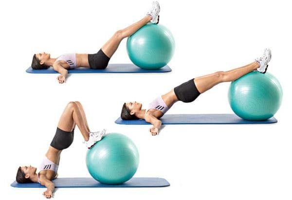 Упражнения для похудения спины на фитболе