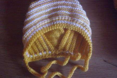 Вязание шапочки спицами для
