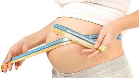 размер живота по неделям беременности норма фото