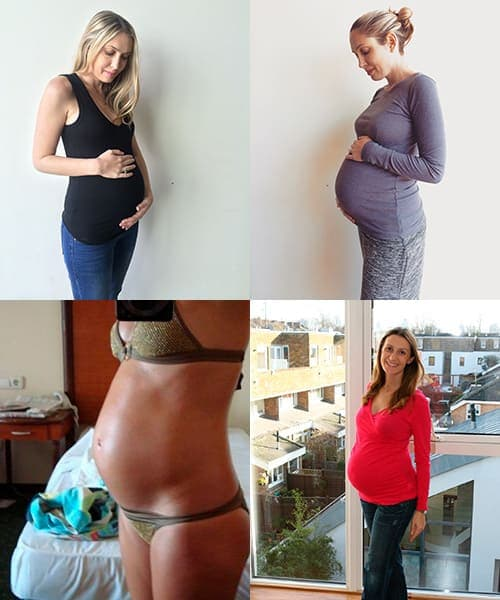 7 месяц беременности фото живота