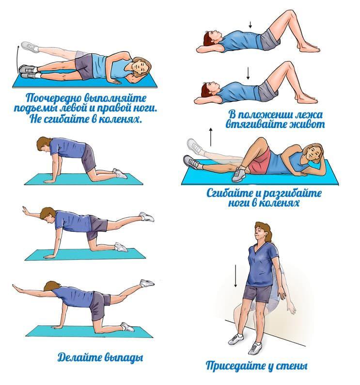 Упражнения чтоб убрать живот в картинках кислинка