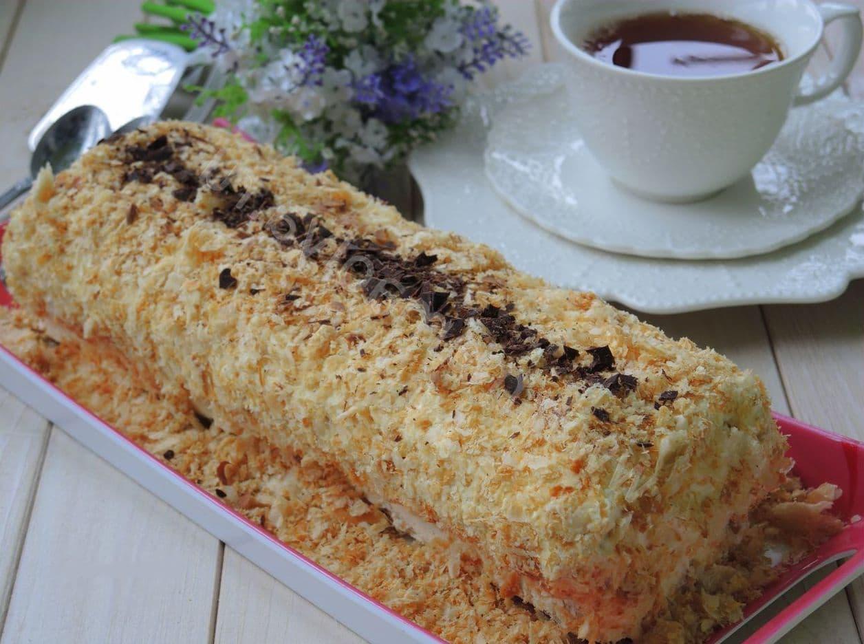 Торт полено в домашних условиях 640