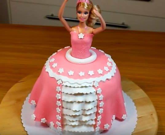Торт кукла барби рецепт с пошаговым